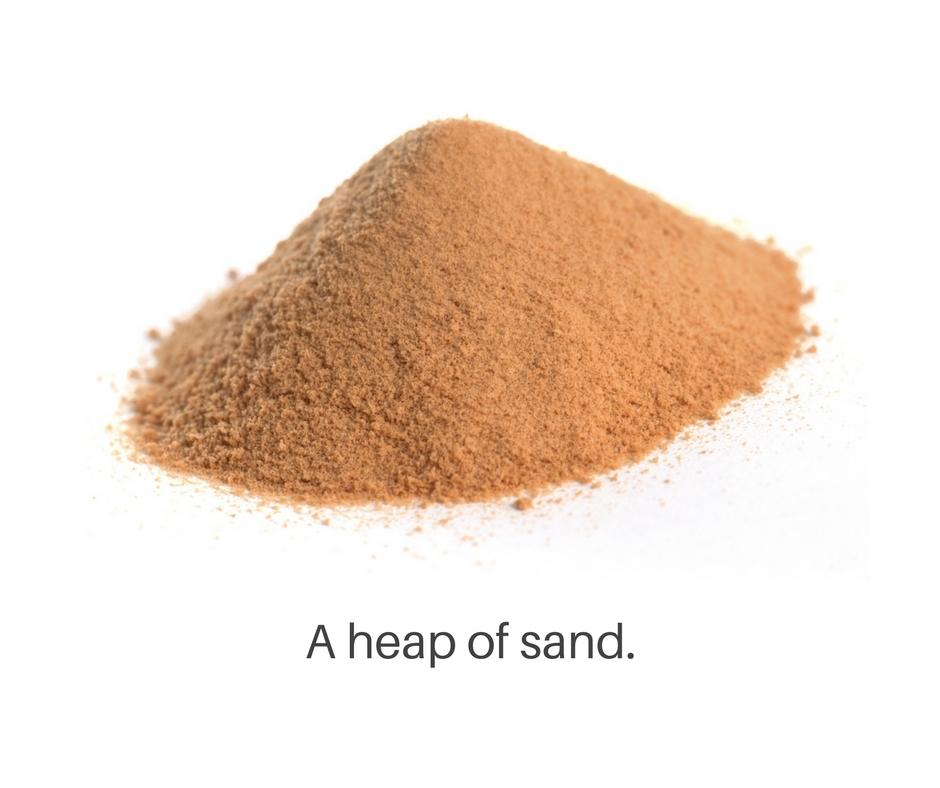 Heap of sand