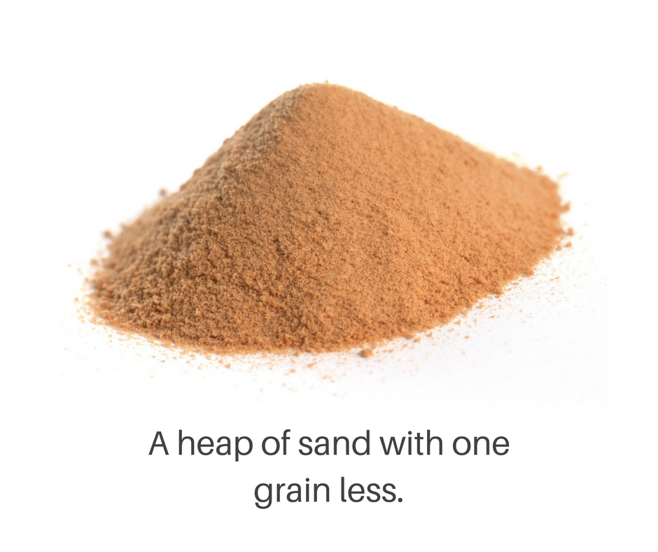Heap of sand with on grain less